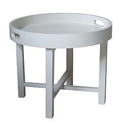 Biely konferenčný stolík z mahagónového dreva HSM Collection Industry, výška 45 cm