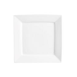 Biely porcelánový tanier Price & Kensington Simplicity, 25 x 25 cm