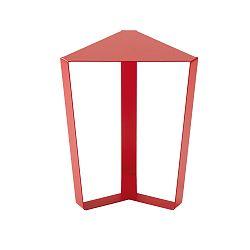 Červený odkladací stolík MEME Design Finity, výška 47 cm