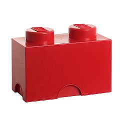 Červený úložný dvojbox LEGO®
