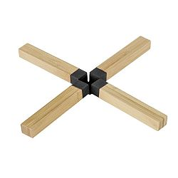 Čierna bambusová podložka pod hrniec Wenko Cross