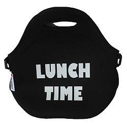 Čierna desiatová taška z neoprénu Bergner Cube