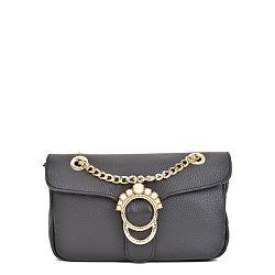 Čierna kožená kabelka Sofia Cardoni Princesa