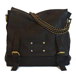 Čierna kožená vintage brašna O My Bag Sleazy Jane