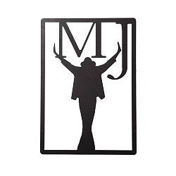 Čierna nástenná kovová dekorácia Wall Decor Michael Jackson