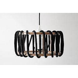 Čierne stropné svietidlo EMKO Macaron, 30cm