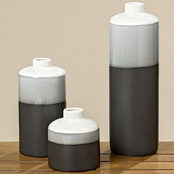 Čierno-biela porcelánová váza Boltze Brix, výška 18 cm
