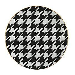 Čierno-biely porcelánový tanier Vivas Goose, Ø23 cm
