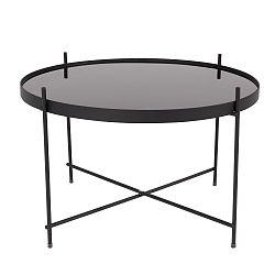 Čierny odkladací stolík stolík Zuiver Cupid
