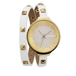 Dámske biele hodinky s dvojitým remienkom Rumbatime Orchard