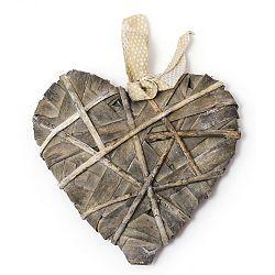 Dekoratívne srdce z prírodných materiálov Ego Dekor