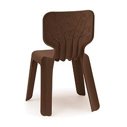 Detská hnedá stolička Magis Alma