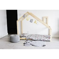 Detská posteľ s vyvýšenými nohami a bočnicami Benlemi Deny, 70x160cm, výška nôh 20cm