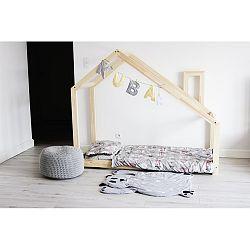 Detská posteľ s vyvýšenými nohami a bočnicami Benlemi Deny, 80x180cm, výška nôh 20cm