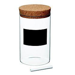 Dóza s tabuľovým štítkom Kitchen Craft Natural Elements, 17 cm