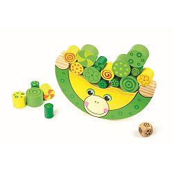 Drevená hračka Legler Balancing Frog
