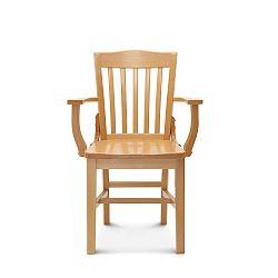 Drevená stolička s opierkami Fameg Hrok