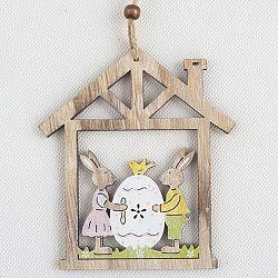 Drevená závesná dekorácia Dakls Easter