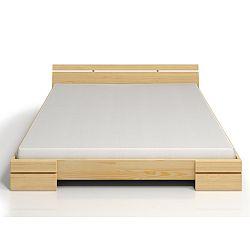 Dvojlôžková posteľ z borovicového dreva SKANDICA Sparta Maxi, 180×200cm
