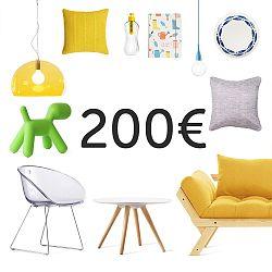 Elektronický darčekový poukaz na 200 €