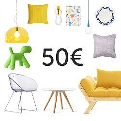 Elektronický darčekový poukaz na 50 €