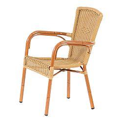 Hnedá stohovateľná záhradná stolička Massive Home Brava