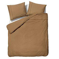 Hnedé obliečky z mikroperkálu Sleeptime Monte Carlo, 240 x 200 cm