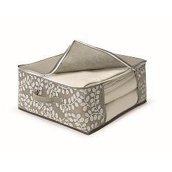 Hnedý uložný box na prikrývky Cosatto Floral, 45×45cm