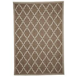 Hnedý vysokoodolný koberec Webtappeti Intreccio Natural, 160x230cm