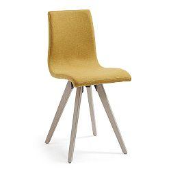 Horčicovožltá jedálenská stolička La Forma Una