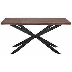 Jedálenský stôl v tmavom prírodnom dekore Støraa Adrian, 160 cm