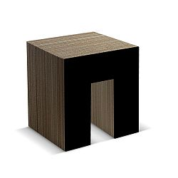 Kartónová stolička Panca Black