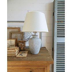 Keramická stolová lampa Orchidea Milano Saint Tropez White and Grey