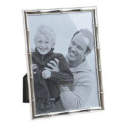 Kovový fotorámik v striebornej farbe InArt na fotografiu 15 x 10 cm
