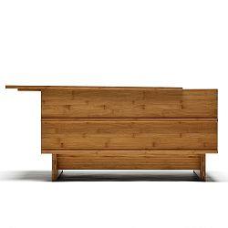 Lavica z bambusu Moso s úložným priestorom We Do Wood Correlations