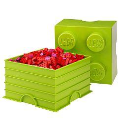 Limetkovozelená úložná kocka LEGO®