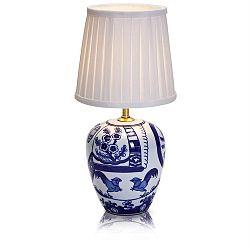 Malá modro-biela stolová lampa Markslöjd Goteborg