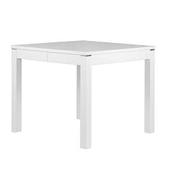 Matný biely rozkladací jedálenský stôl Durbas Style Eric, dĺžka až 180 cm