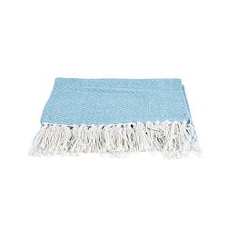 Modrá deka PT LIVING Cozy, 150 x 180 cm