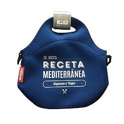 Modrá desiatová taška z neoprénu Bergner Sea Breeze, 30×30cm