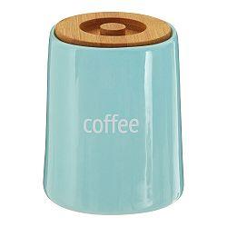 Modrá dóza na kávu s bambusovým vrchnákom Premier Housewares Fletcher, 800 ml