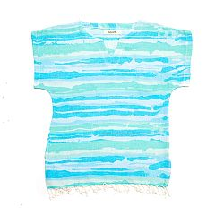 Modrá plážová tunika z bavlny a bambusu Begonville Laguna