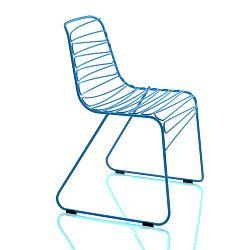 Modrá stolička Magis Flux