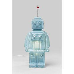 Modrá stolová lampa Kare Design Robot