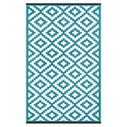 Modro-biely obojstranný vonkajší koberec Green Decore Classo, 90×150 cm