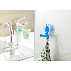 Modrý prísavný háčik v tvare žirafy Compactor