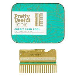 Multifunkčný nástroj v tvare kreditnej karty Pretty Useful Tools Gold