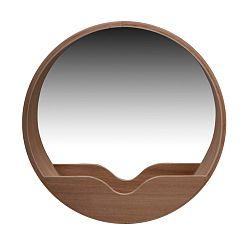 Nástenné zrkadlo s odkladacím priestorom Zuiver Round Wall, ⌀60 cm