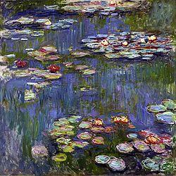 Obraz Claude Monet - Water Lilies 3, 70x70 cm