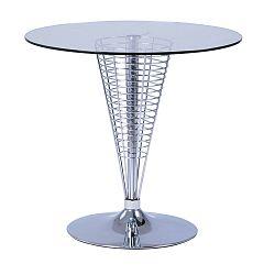 Odkladací stolík so sklenenou doskou Signal Cosmo, ⌀80cm